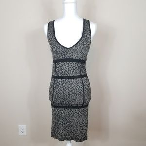 Arden B Animal Print Fitted Dress | Size M/L